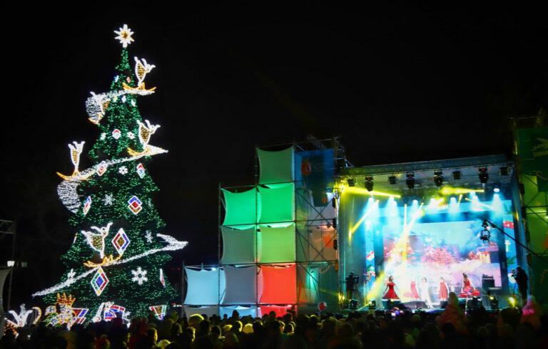 Новий 2020 Рік на Думській площі, Одеса