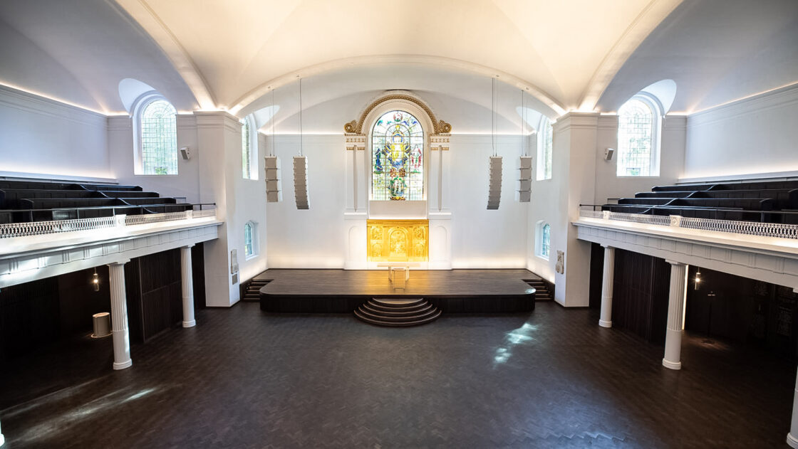 St.John Hackney Church — d&b audiotechnik V-Series + SL-Subs